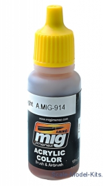 A-MIG-0914 Acrylic paint: Red brown light A-MIG-0914