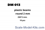 DAN013 Plastic beams 250x2.0 mm, 10 pcs