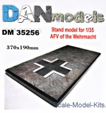 DAN35256 Display stand. AFV of the Wehrmacht, 190x370mm