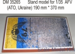 DAN35265 Display stand. 79 Airmobile brigade, ATO, 370x190mm