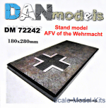 DAN72242 Display stand. AFV of the Wehrmacht theme, 180x280mm