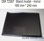 DAN72267 Display stand with mirror. 240x180mm