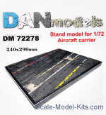 DAN72278 Display stand. Aircraft carrier, 240x290 mm