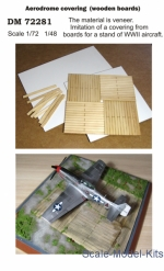 DAN72281 Display stand. Aerodrome covering (wooden boards), scale 1/72; 1/48