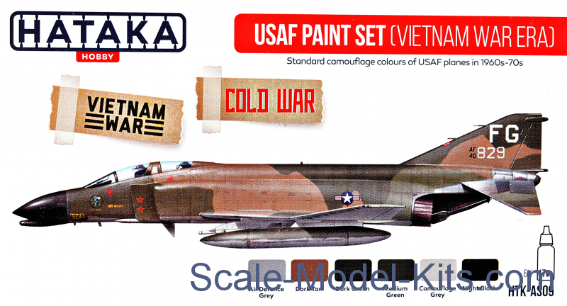 USAF Paint Set (Vietnam war-era), 6 pcs