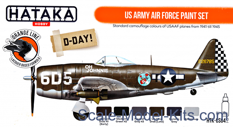 US Army Air Force paint set, 6 pcs