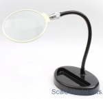 MOD018 Desktop magnifier on a flexible stand (small)