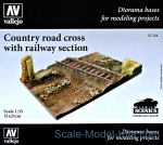 VLJ-SC104 Country road cross with railway section