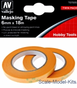 VLJ-T07005 Precision Masking Tape 6 mm x 18 m, 2 pcs