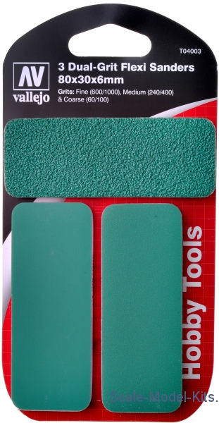 Flexi Sanders Dual-Grit (80x30x6mm), 3 pcs