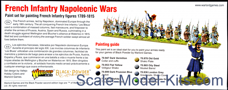 Vallejo - Paint Wargames Set French Infantry Napoleonic Wars