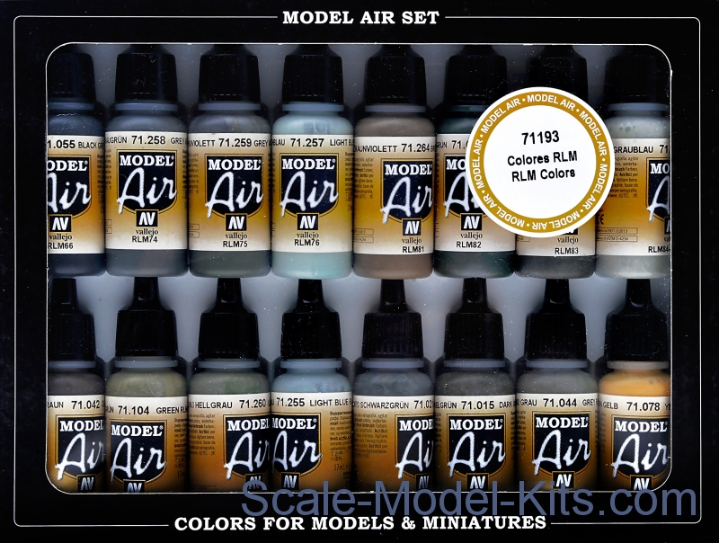 "Model Air set "" RLM Colors"", 16 pcs"
