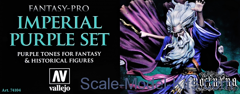 Paint Set mperial Purple Tones Fantasy-Pro, 8 pcs