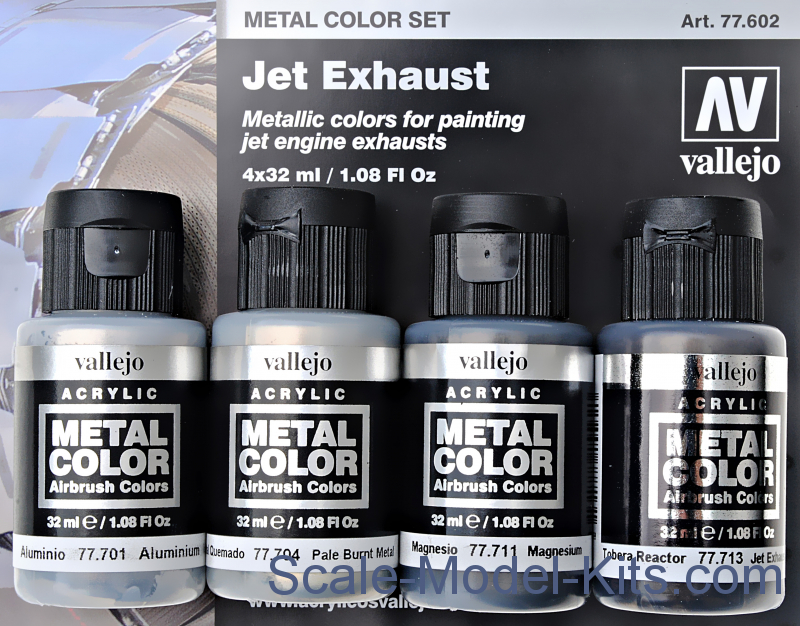 Metal Color Set Jet Exhaust, 4 pcs